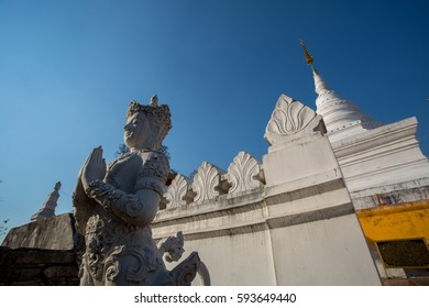 Wat Phra That Kao Noi at Nan, Thailand. Nan province with Buddha statue on Mountaintop