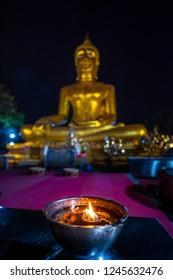 Wat Phra Yai Temple Big Buddha Close-up