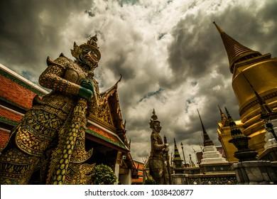 Wat Phrasrirattana Sasadaram (Wat Phra Kaew), or the Temple of the Emerald Buddha.