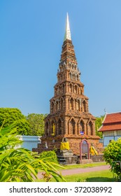 Wat Phrathat Hariphunchai Woramaha Vihan, Buddhist temple in Lamhun, Thailand.