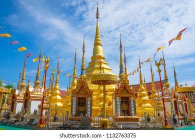 Wat Pra Borommathat Tak, In Tak province, North of Thailand.