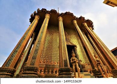 Wat Pra keaw in Bangkok ,golden building is amazing place in thailand