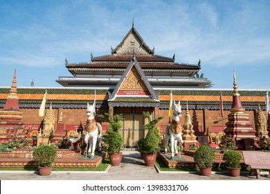 the Wat Prohm Roth Temple in the city of Siem Reap in northwest of Cambodia.   Siem Reap, Cambodia, November 2018