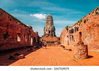 Wat Ratchaburana, ancient ruins in Ayutthaya, Thailand