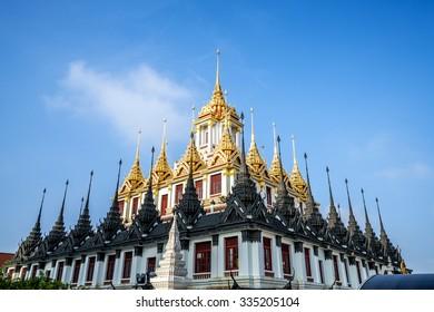 Wat Ratchanaddaram Worawihan (Loha Prasat Metal Palace), Bangkok Thailand