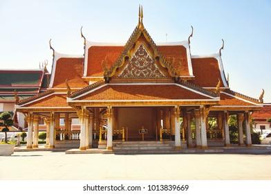 Wat Ratchanatdaram Worawihan temple at Bangkok, Thailand.