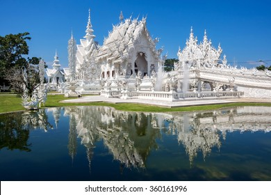 Wat Rong Khun, aka The White Temple, in Chiang Rai, Thailand.