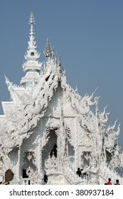 Wat Rong Khun, The art in the style of a Buddhist temple at Chiang Rai,  White Temple, Thailand on February 12, 2016