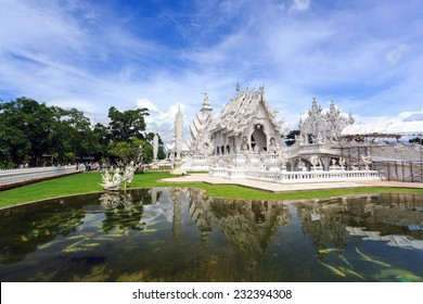 Wat Rong Khun is the most important temple of Chiang Rai, Thailand