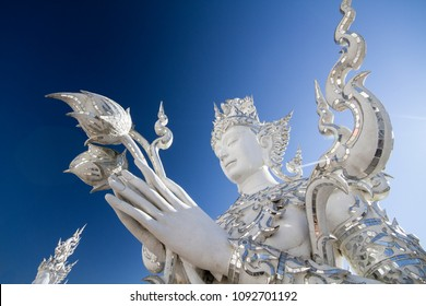 Wat Rong Khun, white temple at Chiang Rai in northern of Thailand