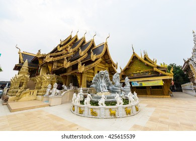 Wat Sanpa Yang Luang, beautiful temple in Lamphun, Thailand.They are public domain or treasure of Buddhism.