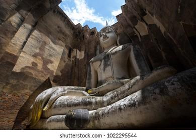 Wat Si Chum in Sukhothai Historical Park.Sukhothai/Thailand