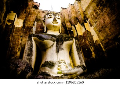 Wat Si Chum temple or Wat Sri Chum temple in Sukhothai historical park. Sukhothai, Thailand.This is declared as a World Heritage Site by UNESCO.