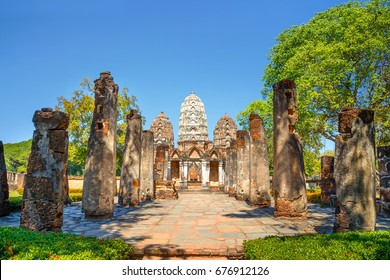Wat Si Sawai Temple at Sukhothai Historical Park, a UNESCO World Heritage Site in Thailand