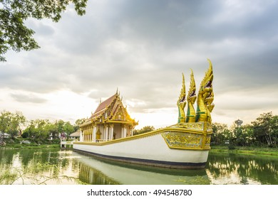 Wat Sra Pra Sarn Sook (Wat Baan Na Muaeng). Boat Temple in Ubonratchathani