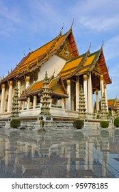 Wat Suthat is a royal temple in Bangkok, Thailand