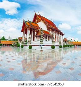 Wat Suthat Thep Wararam in Bangkok, Thailand. Suthattepwararam Temple.