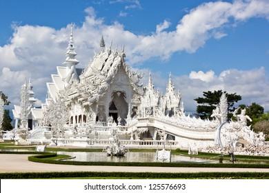 Wat ( Temple ) Rong Khun in Chiang Rai Thailand