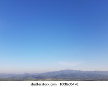 wat tha ton with clear sky in chaingmai,thailand