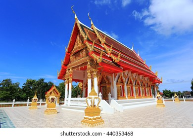 Wat thai with blue sky