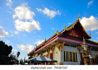 wat thai buddhist temple in Los Angeles, California, USA