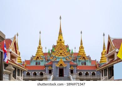 Wat Thang Sai, Buddhist temple in prachuap kirikhan Thailand on 29 Jan 2020