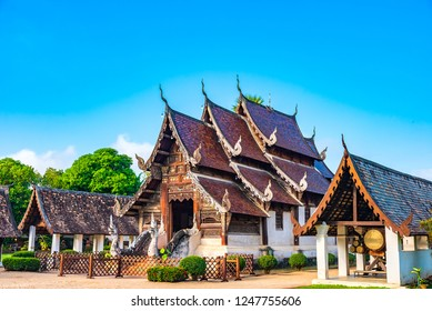 Wat Ton Kain, Old temple made from wood know as landmark of city located in Chiang Mai Thailand.