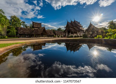 Wat Ton Kain, Old wooden temple in Chiang Mai Thailand, They are public domain or treasure of Buddhism.