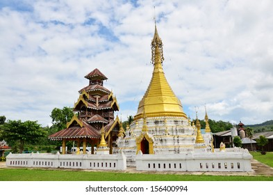 Wat Tophae at Khun Yuam in Mae Hong Son Province of North Thailand
