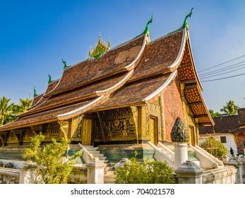 Wat Xieng Thong Buddhist temple, Luang Prabang, Laos