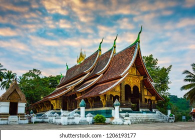 Wat Xieng Thong or The Golden City Temple. The most important buddhist temple in UNESCO World Heritage city, Luang Prabang, Laos.