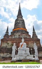The Wat Yai Chai Mongkhon in Ayutthaya, Thailand
