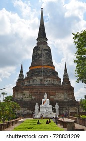 Wat Yai Chai Mongkhon in Ayutthaya, Thailand - April 14th, 2017