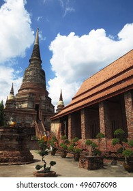 Wat Yai Chai Mongkol, Ayutthaya,Thailand