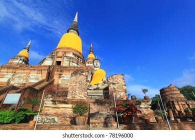 Wat yai chaimongkhon, Ayutthaya,Thailand.