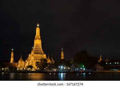 Wat-Arun across Chao-Phraya River Bangkok
