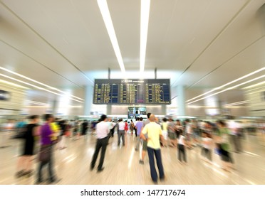 Watch airport arrival information for passengers, Motion Blur.