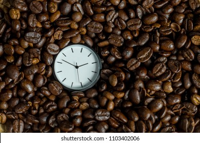 Watch in the box of coffee beans.