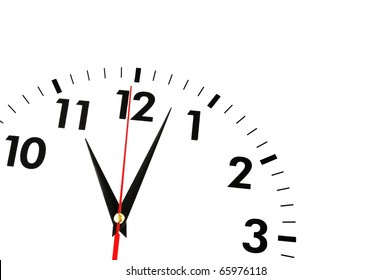 watch or clock isolated on white background showing time or businss concept