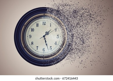 Watch destroyed by time in the sand. the concept time is running out
