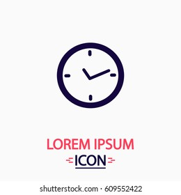 Watch Icon Illustration. Flat simple button on white background. Symbol