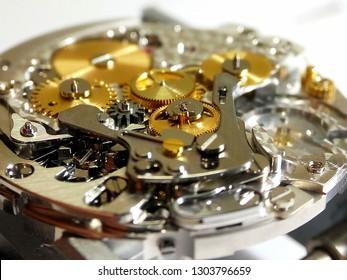 watch mechanism close up