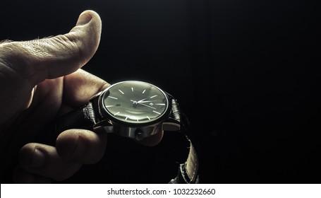 watch on a dark background