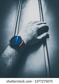 Watch on wrist.