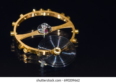 Watch Parts: Balance Wheel, Hairspring and Ruby Impulse Roller Jewel