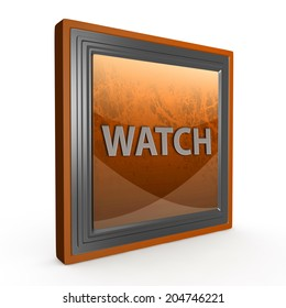 watch square icon on white background