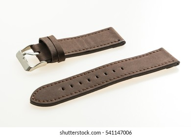 Watch strap leather isolated on white background