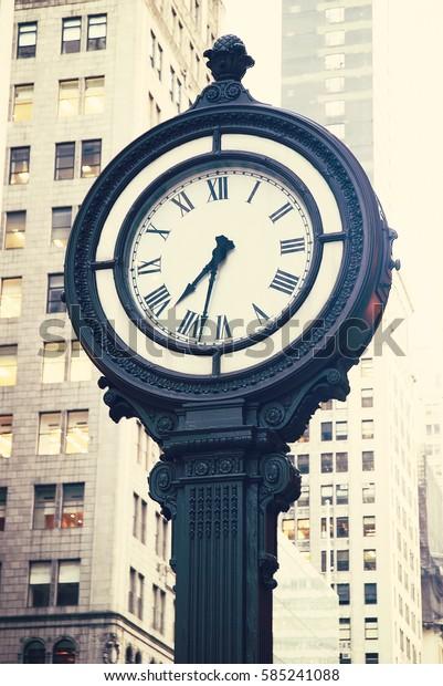 Watch street of Downtown New York City
