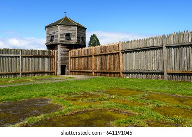 Watch Tower and Fence at Fort Vancouver National Historic Site