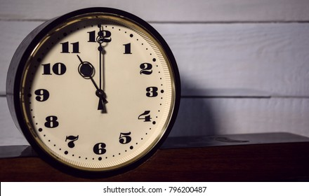 watch, vintage retro eleven o'clock in the morning and evening the concept